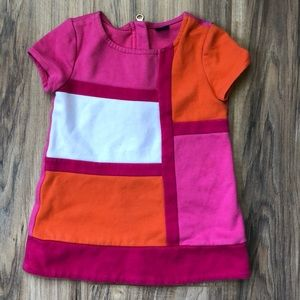 Baby Gap Color Block Retro Dress 12-18 mo